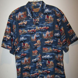 CLEAR WATER OUTFITTERS CLASSIC CARS SHIRT B3283